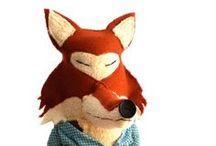 cuddly ♥ foxes / Knuffels à la carte ♥ cuddly foxes, soft dolls, plush, handmade foxes / by Knuffels à la carte