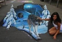 Sidewalk chalk / by Krishna