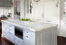 Kitchen ideas / Decided on a white kitchen now the stove... Next few months picking out the little things!  / by Christy Ahdan