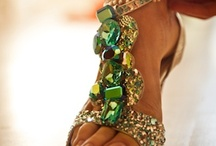 Shoes for weddings | Designer shoes | Indian wedding shoes / Wedding shoes, we have it all, Crystal studded shoes, flower shoes, blinged out shoes, designer heels, peacock shoes perfect for a south Asian bride  / by Shaadi Bazaar