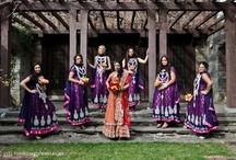 Bridesmaids dresses | Bridesmaid sarees | Bridesmaids anarkalis / South Asian Bridesmaids clothing, Sarees, anarkalis and more / by Shaadi Bazaar