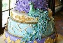 Peacock Wedding Decor | Peacock Inspiration / Peacock themed flowers, peacock wedding cake, peacock centerpieces your peacock wedding inspiration board / by Shaadi Bazaar