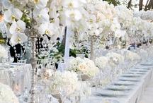 White, ivory & cream decor  / White wedding decor. white Wedding decor, wedding favors, wedding cakes / by Shaadi Bazaar