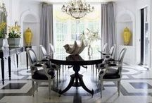 Black & White | Home Decor Color Trends 2014 via The Decorating Diva  / The Decorating Diva: Black and white color direction 2014 inspired by B&W photos, Chanel's iconic tweed suit and desire for high contrast sophistication at home. / by Carmen @ The Decorating Diva, LLC