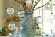 Aqua & White Christmas | Holiday Color Inspiration & Ideas / Holiday decorating and entertaining ideas in fresh and pretty shades of aqua teamed with white.  / by Carmen @ The Decorating Diva, LLC