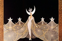 Art Deco and ERTE / Art Nouveau infected the minds of generations to follow...thus the Art Deco movement began with Romain de Tirtoff aka ERTE and others who worked much in the same style as he. / by Ruth Lee