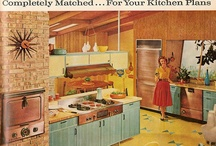 """1950-1965: """"Atomic Suburbia"""" / Home life, architecture, and decor of the Mid-Century era. / by Five Foot Two, Eyes of Blue"""