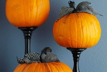 Pumpkins and More Pumpkins / New ideas for decorating pumpkins — not all of them involve a knife. / by Sara Marie