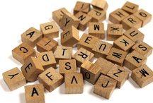 Alphabet/Scrabble Tiles / by Bottle Cap Inc.