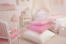Dream Home - Girl's Room / Nursery Toddler  Child's room  MINT GOLD BROWN PINK / by Erin
