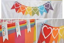 Rainbow party theme / by Stampin' Dolce - Krista Frattin