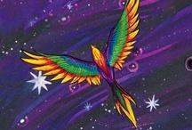 Sky  Rainbow  Stars.Moon Rain / by Al Bo