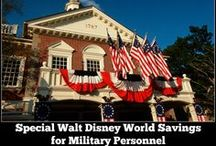 Disney Military Discounts / Walt Disney World, Disney Cruise Line, Disneyland and ticket discounts available to military personnel  / by The Magic For Less Travel - Specializing in Disney and Universal Vacations