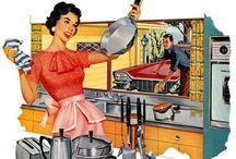 Retro Kitchen / Inspiration for my NJ apt kitchen / by Krystle / CraftyHabit