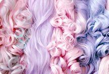 i  a m  m y  h a i r / Pink hair, blue hair, curly hair, big hair, mermaid hair.  / by MaDonna Flowers Sheehy