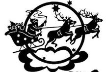 Christmas - paper crafts, silhouettes, scherenschnitte!!! / by Julie Slater