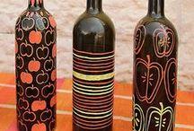 Altered Bottle And Glass_Craft / by Kakuseisha Lilicutes Ateliê