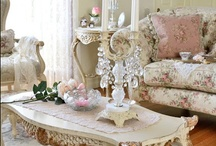 Shabby Chic with a French Country Flair / Love pinks and roses.....sage greens,lavenders and pale yellow. Love shopping thrift stores for vintage finds!! / by Deana
