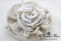 Crafts ~ Fabric & Textiles / Love all these fabric flowers! / by Toni Frizell