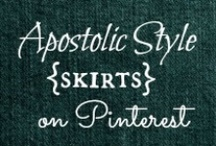 APOSTOLIC SKIRTS / Modest clothing. For all those cute skirts! You can never have too many! See cute and modest outfits at my blog: http://blueeyedbeautyblogg.blogspot.com/p/style.html. / by Helen Stafford
