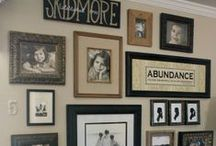 Framed Gallery / Displaying all my family photos / by Susan DeLucca