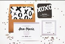 design: invitations / cards / by Sarah Scussel / Design Me Daily