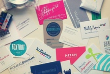 design • business cards / by Hilary Baumann