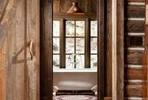 Rustic Homestead | Interiors / Rustic wood in the great outdoors / by Rose | RockRoseWine