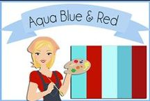 Color: Aqua Blue & Red / Red and aqua blue a retro comeback / by Robin Sampson