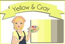 Color: Yellow & Gray / by Robin Sampson