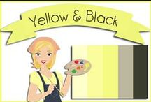 Color: Black & Yellow / Yellow, black and white color inspiration. / by Robin Sampson
