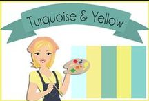 Color: Turquoise & Yellow / by Robin Sampson