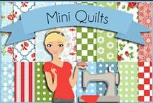Quilting: Small Quilt Projects / Mini quilts, mug rugs, placemats, table runners, pot holders, pin cushions, pillows, wall hangings, stuffed animals, etc. / by Robin Sampson