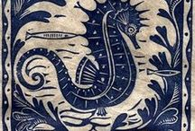 ART - FISH,OCTOPUS,SEAHORSE / by Art By Laura