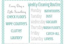 Cleaning - Schedules, Checklists, & Labels / by kathiebeth