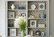 Accessorizing * Shelves & Tables / decorating shelves; decorating tables; accessorizing tables; accessorizing shelves; grouping accessories / by J A N E T * S L A B O S Z - G R I G G S
