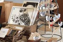Craft Fair Displays / Ideas for displaying your work at markets and craft fairs. Find tips on how to display your work and sell at craft fairs on the Folksy blog - - - - http://blog.folksy.com/ / by Folksy