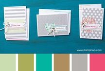 color combos: SU / Color combinations using Stampin' Up! colors / by Samantha Robertson