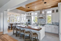 Next time around - Kitchen-to-do~Glass, white, light,YES / Contemporary, Southwest, Rustic and it works / by Cindi T