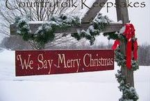 A COUNTRY CHRISTMAS / Love the Simplicity of a rustic/country Christmas. Reminds me of the humbleness of Christ as he so willingly gave up the riches of Heaven to became a living sacrifice for the sins of the world. Christ is Christmas! ...........Glory to God in the highest, and on earth peace, good will toward men..Luke2:14 / by Leslie Janney
