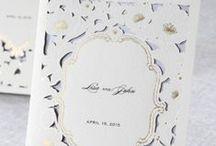 Laser Cut Invitations / High quality Wedding Invitations using laser cutting technology / by B Wedding Invitations