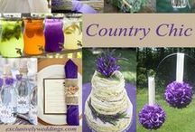 "Country Chic/Rustic Weddings / The country chic & rustic theme is less formal than a traditional wedding. Here is a collection of photos for you to browse while trying to find the ""right look"" for your own rustic wedding. / by Exclusively Weddings"