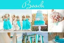 Beach Wedding  / Whether you are getting married at a beach near home or are having a destination wedding, you will find a variety of ideas from our many photos. We also have included photos of nautical weddings, too!   / by Exclusively Weddings