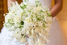 White Wedding Bouquets / White wedding bouquets are always in style. They are a classic! We hope you will find inspiration and ideas for your own special bouquet from the many photos we have curated. / by Exclusively Weddings