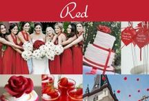Red Wedding  / Red is the color of passion and love. This color is rich and stunning, especially when used in a wedding. From red wedding flowers to red cakes to red shoes...find it all here! / by Exclusively Weddings