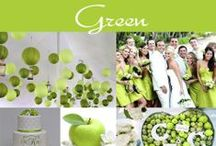 Green Wedding - Warm-Toned Green / Apple Green is a great wedding color. It is a lovely medium green that is especially  nice for spring and summer weddings.  / by Exclusively Weddings