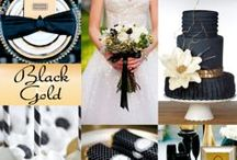 Black, White and Gold Wedding / by Exclusively Weddings