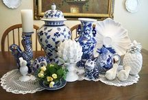 BLUE & WHITE, my heart's delight! / My favorite colors! / by Suzie q