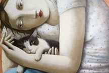 """I heart Cats / """"The only escape from the miseries of life are music and cats…"""" ~ Albert Schweitzer   / by Katherine Frearson"""