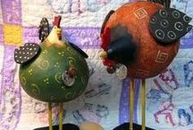 gourds & pine needle creations / by Barb Dedrickson